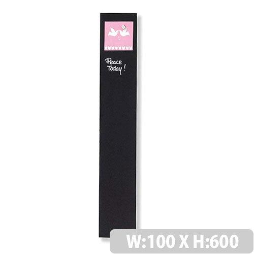 Franken Glass Magnetic Board 100x600mm Black GT106010