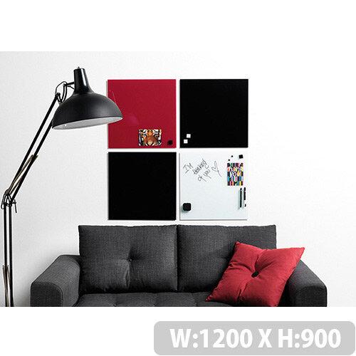 Franken Glass Magnetic Board 1200x900mm Black GT1209010