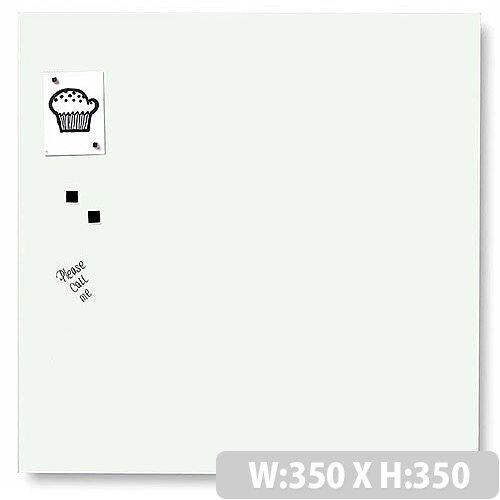Franken Glass Magnetic Board 350x350mm White GT353509