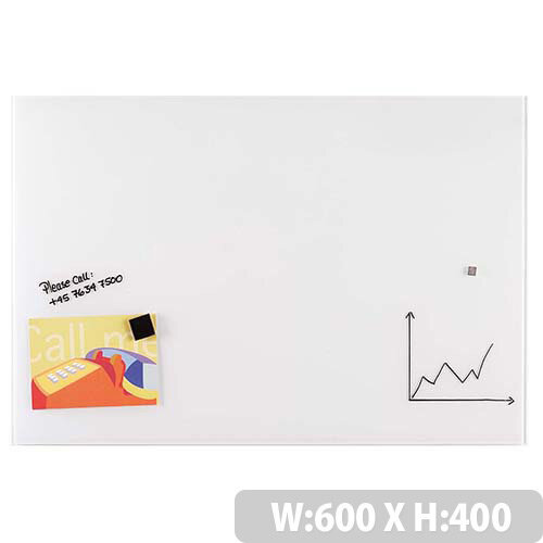 Franken Glass Magnetic Board 600x400mm White GT406009
