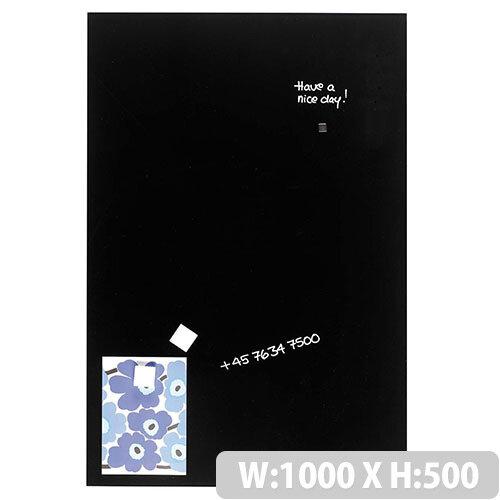 Franken Glass Magnetic Board 1000x500mm Black GT5010010
