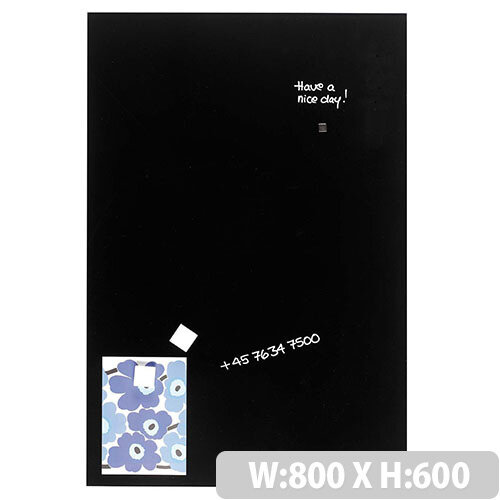 Franken Glass Magnetic Board 800x600mm Black GT608010