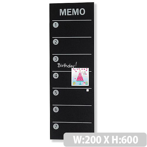 Franken Glass Magnetic Memo Board Planner 40x40mm Black GTM40 Unique Black Magnetic Memo Board