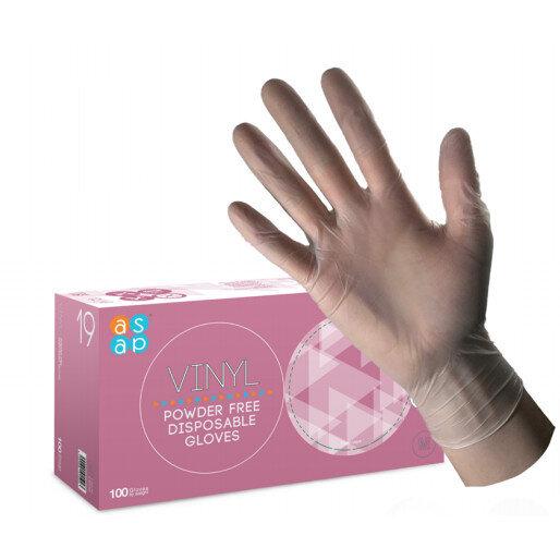 McKinnon Vinyl SMALL Disposable Gloves Powder-Free Non-Sterile (100) Box GV100S