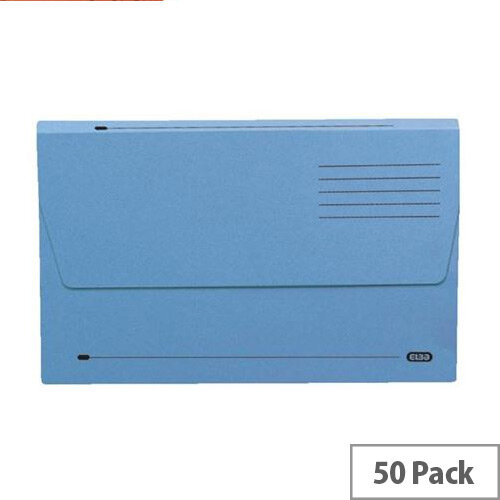 Elba A4 Document Wallet Half Flap Blue Pack of 50