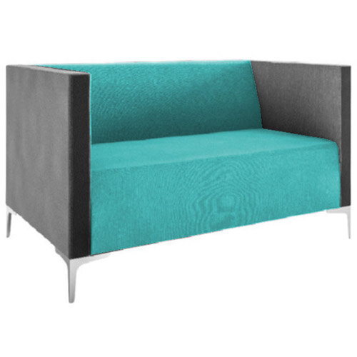 Frovi HUDDLE LOW 2 Seater Sofa With Chrome Feet H790xW1350xD760mm 440mm Seat Height - Fabric Band D