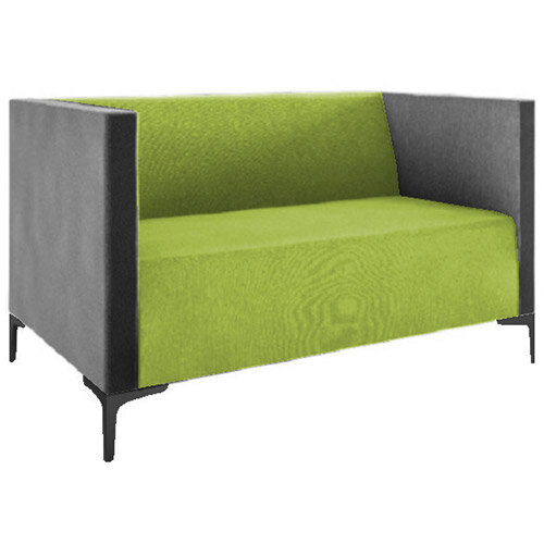 Frovi HUDDLE LOW 2 Seater Sofa With Black Feet H790xW1350xD760mm 440mm Seat Height - Fabric Band D