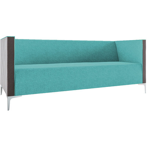 Frovi HUDDLE LOW 3 Seater Sofa With Chrome Feet H790xW1950xD760mm 440mm Seat Height - Fabric Band B