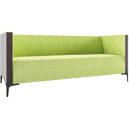 Frovi HUDDLE LOW 3 Seater Sofa With Black Feet H790xW1950xD760mm 440mm Seat Height - Fabric Band D