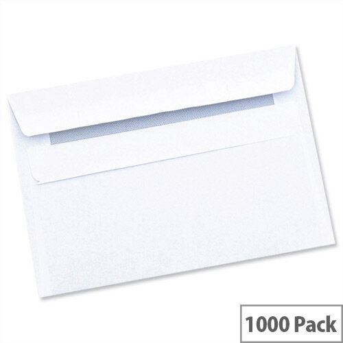 Wallet Envelopes White Press Seal C6 (Pack of 1000)