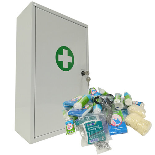 Workplace First Aid Cabinet 11-25 Person - Stocked