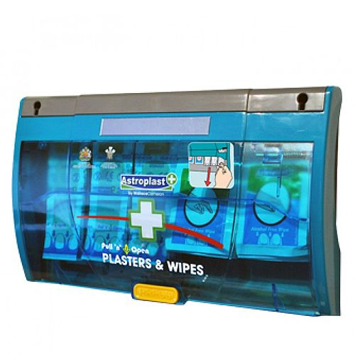 Pull 'n' Open Plaster Dispenser Blue Detectable &Wipes 1007029