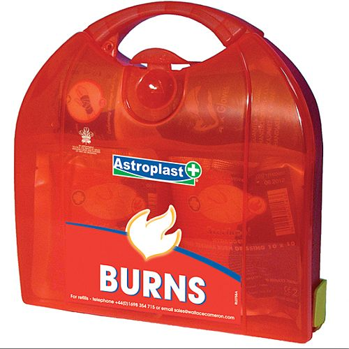 Astroplast Piccolo Burns First Aid Kit – Caters Up To 5 People, Compliant With Health &Safety Regulation, Durable, Compartmentalised &Hinged Case (1009005)