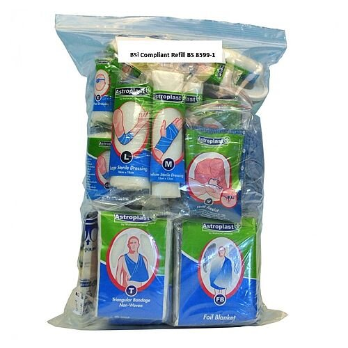 BSi 8599-1 Medium Compliant First Aid Kit Refill Food Hygiene 1035050