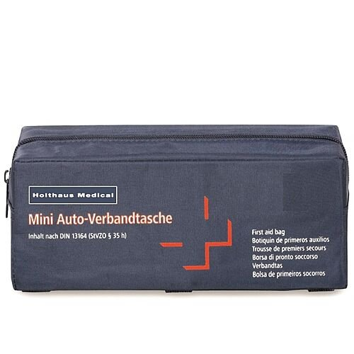 Holthaus Mini First Aid Travel Kit Car Bag DIN 13164 Up to 5 Person 1062378