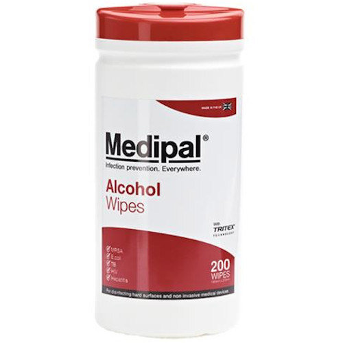 Medipal Healthcare Alcohol Wipes Canister Pack of 200