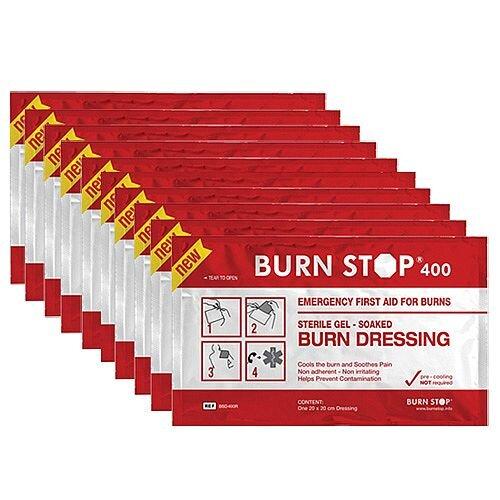 Water-Jel Burn Stop Gel Dressing 20cm x 20cm Value Pack of 10 2208002