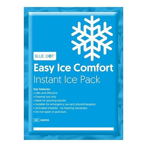 Blue Dot Instant Ice Pack Multilingual Single 9987 20x15cm