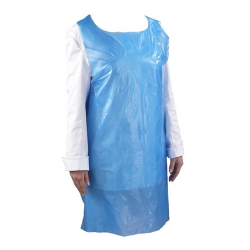 Astroplast Disposable Blue Poly Aprons Roll of 200 - HA4801006
