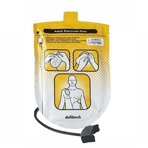 Defibtech Lifeline AED Adult Defibrillation Pads (1 Pair) DDP-100A