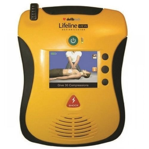 Defibtech Lifeline View AED Semi-Automatic Defibrillator - large, full-colour interactive display - portable and lightweight - DDU-2300
