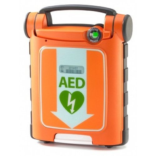 Cardiac Science Powerheart AED G5 With CPR Fully Automatic Defibrillator With ICPR Pads
