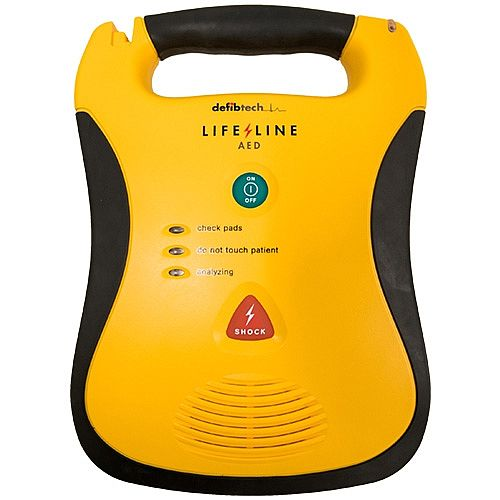 Defibtech Lifeline AED Semi-Automatic Defibrillator - Lightweight, fully integrated design - Rugged and Durable - simple and intuitive - Clear Voice Prompts -DDU-100E