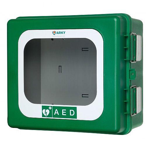 ARKY Outdoor AED Defibrillator Cabinet Green Lockable 5003005
