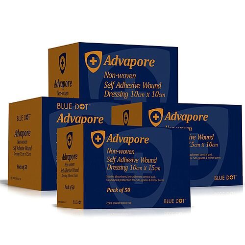 Advapore Adhesive Wound Dressing 8cm x 10cm Pack of 50