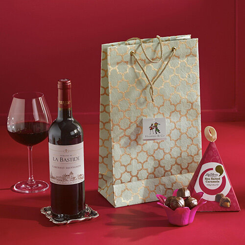 Red Wine &Chocolates Gift Bag