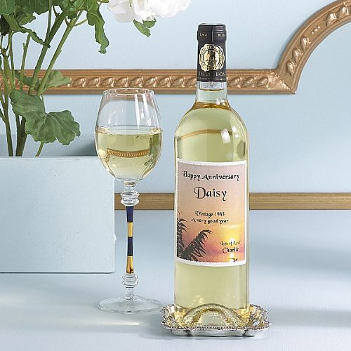 Personalised White Wine Gift