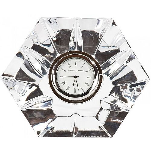 Tipperary Crystal Hexagonal Clock Gift