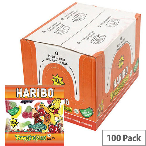Haribo Tangfastics Small Bag Jelly Sweets (Pack of 100) 73143