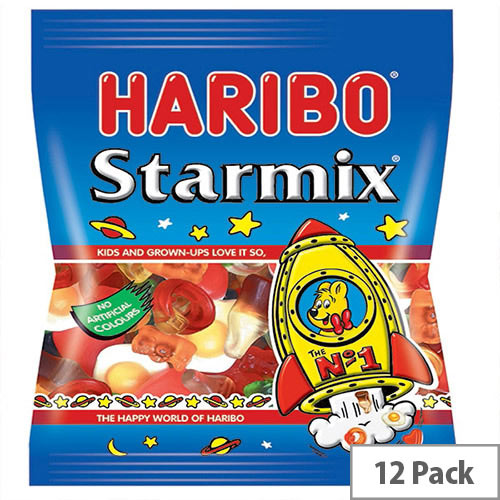 Haribo Starmix 160g Bag Jelly Sweets (Pack of 12) 73073