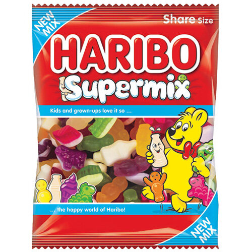 Haribo Supermix Share Size Bag 140g Pack of 12 727730