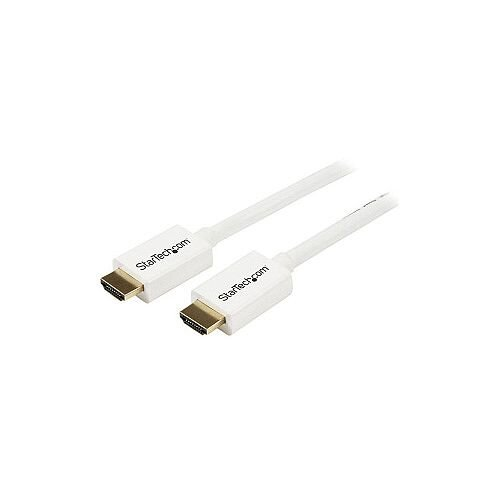 StarTech 2m 6 ft White CL3 In-wall High Speed HDMI Cable Ultra HD 4k x 2k HDMI Cable HDMI to HDMI M/M HD3MM2MW