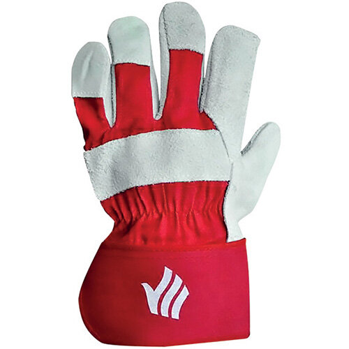 Polyco Premium Rigger Gloves Chrome Selected Leather Red Pack of 10 LR158R