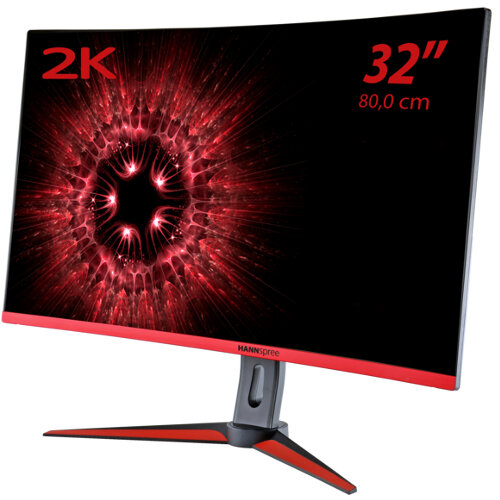 "HANNspree Gaming 32"" (80.0cm) Curved Monitor 2560x1440 2K QHD Stereo Speakers 2ms/144hz Refresh Rate 3 Year Warranty"