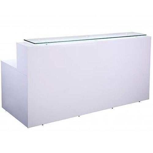 White High Gloss Reception Unit 2200mm x 1030mm x 800mm RD5