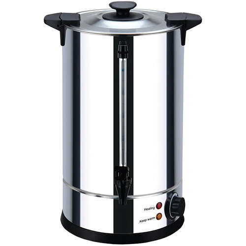 Igenix Catering Hot Water Urn 15 Litre Locking Lid Water Overheat Protection 1650W