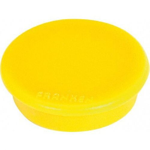 Franken Tacking Magnets Round 24mm Yellow Pack of 10 HM20 04