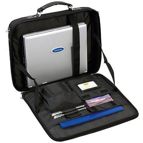 Monolith Black Nylon 17 inch Laptop Bag