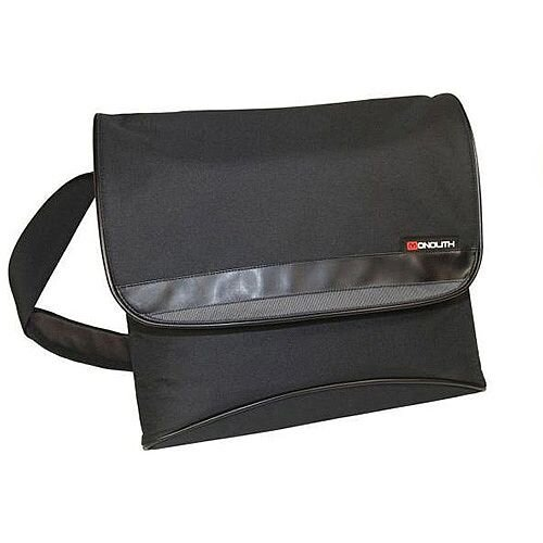 Monolith Nylon Messenger Laptop Shoulder Strap Bag Black/Grey