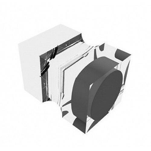 Franken Neodymium Stamp Magnets Acrylic Transparent 20x20x30mm HMAS30