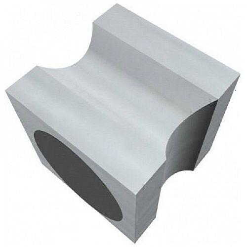 Franken Neodymium Stamp Magnets Aluminium Silver 20x20x20mm HMCS20