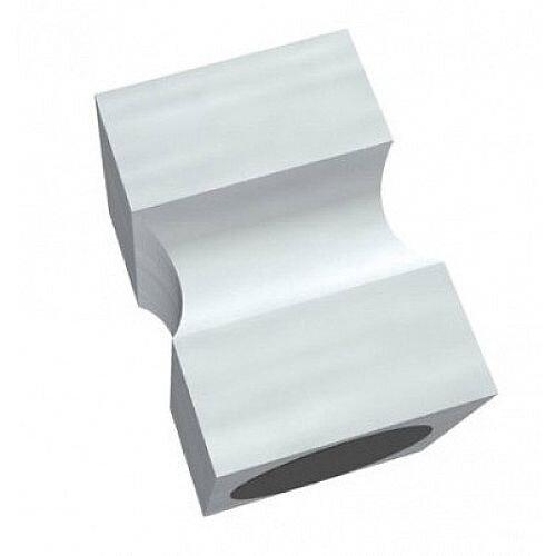 Franken Neodymium Stamp Magnets Aluminium Silver 20x20x30mm HMCS30