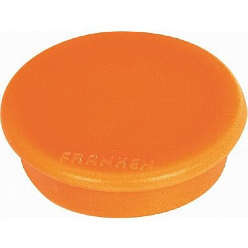 Franken MagFun Tacking Magnets Round 32mm Orange Pack of 10 HML30 05