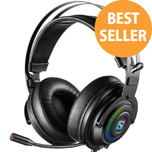 Sandberg Dizruptor Gaming USB Headset - 2.2m Cord - Stereo, Wired, Gaming, In-line Microphone