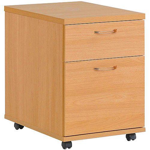 2 Drawer Mobile Pedestal Beech HOP2B