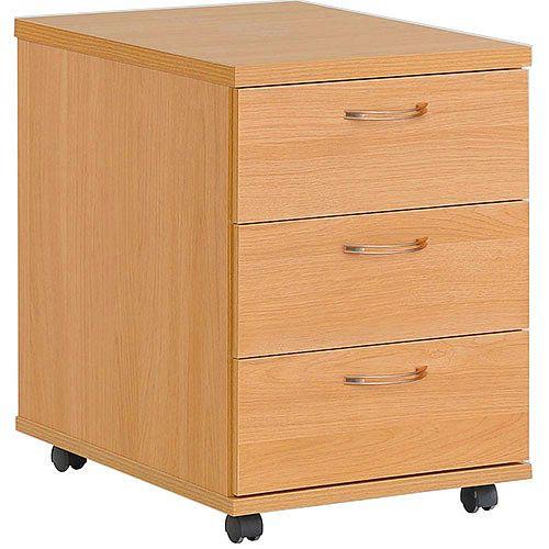 3 Drawer Mobile Pedestal Beech HOP3B